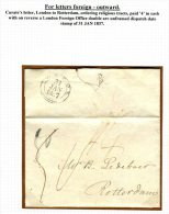 1837 GB Netherlands London - Rotterdam Entire / Curate Ordering Religious Tracts - Great Britain