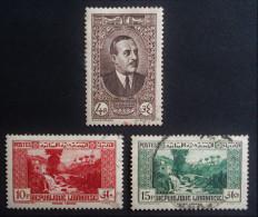 EMISSION 1937/38 - OBLITERES - YT 153 + 155/56 - MI 210 + 213 + 215 - Liban