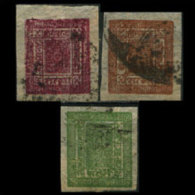 NEPAL 1917 - Scott# 15-7 Khukris 2-4a Used - Nepal