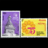 NEPAL 1975 - Scott# 302-3 Tourism Year Set Of 2 MNH - Nepal