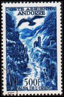 1957. 500 F. POSTE AERIENNE ANDORRA.  (Michel: 160) - JF193024 - Andorre Français