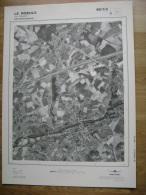 GRAND PHOTO VUE AERIENNE 66 Cm X 48 Cm De 1979 LE ROEULX  LE ROEULX - Cartes Topographiques