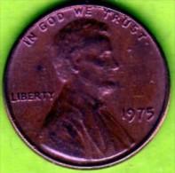 1975 Stati Uniti - 1 Cent. (circolato) - 1959-…: Lincoln, Memorial Reverse