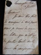 Lettre De Remington Palace Circa1840 - Cachet De Cire - Earl Of Aboyne Edinburgh à  M. Leonardi - Marcophilie (Lettres)