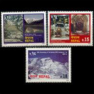 NEPAL 2000 - Scott# 670-2 Tourism Set Of 3 MNH - Nepal