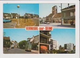 Lot De 3 CPM - VERNEUIL SUR SEINE - Multivues - Coteaux Place De L'Eglise Grande Rue Jardins Ruisseau Centre Commercial - Verneuil Sur Seine