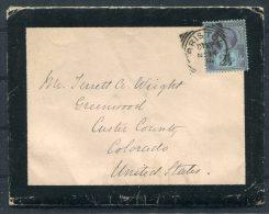 1894 GB Bristol Mourning Cover & Letter - Custer County, Colorado, USA - Storia Postale