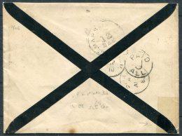 1882 GB Oldham Duplex Mourning Cover - Michigan, USA - Storia Postale