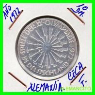 ALEMANIA   MONEDA  PLATA S/C 10 DM  OLIMPIADE  1972- DEUTSCHLAND - [10] Conmemorativas