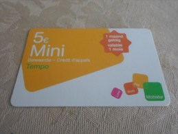 BELGIUM - VERY scarce prepaid phonecard as on 2 photos