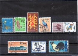 Sud Africa - N. 9 Differenti Usati - Sud Africa (1961-...)