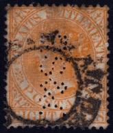 STRAITS SETTLEMENTS 1882 8c Sc#48 W.CrownCA PERFIN @E2379 - Straits Settlements