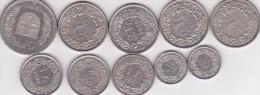 Suisse Lot X84 Lot De 10 Pièces 1/2 Franc, 1 Franc, 2 Francs Et 5 Francs, Voir Scan - Suisse