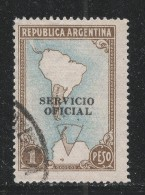 Argentina 1951. Scott #O52 (U) Map Showing Antartic Claims - Argentine