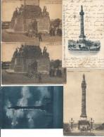 Bruxelles Lot De 5 Cp De La Colonne Du Congrès - Lots, Séries, Collections