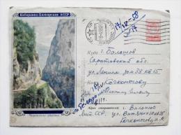 cover sent from Lithuania Vilnius, ussr soviet occupation period 1958 rocks mountains kabardino-balkarya
