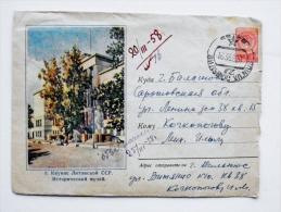 cover sent from Lithuania Vilnius, ussr soviet occupation period 1958 kaunas museum