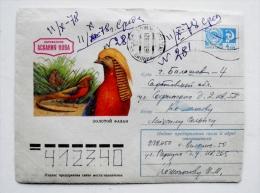 cover sent from Lithuania Vilnius, ussr soviet occupation period 1978 animals birds oiseaux fazan