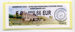 2015 LISA 2 MARCOPHILEX XXXIX AUVERS SUR OISE - 2010-... Illustrated Franking Labels