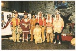 L25b41 - Groupe De Danseurs Mohawks (Iroquois) En Costumes Traditionnels - Editions Roberval - Quebec