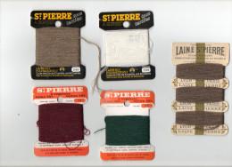 LAINE SAINT PIERRE LOT DE 5 SUPPORTS ET LAINE A REPRISER ( Mercerie Couture Broderie Laine) - Wool