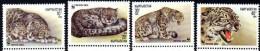 KYRGYZSTAN WWF, Panthere Des Neiges, Yvert 28/31 ** Neuf Sans Charniere. MNH - W.W.F.