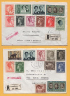 Luxemburg / 2 Einschreiben Von Luxemburg Nach Deutschland Von 1970 +1972 - Mischfrankatur - Brieven En Documenten