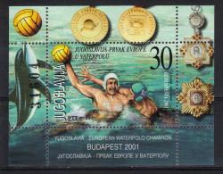 Yugoslavia,EC In Waterpolo-Budapest '01 2001.,block,MNH - Ongebruikt