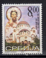 Yugoslavia,For Construction St.Sava Tample 2003.,MNH - 1992-2003 Federal Republic Of Yugoslavia