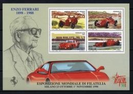 ITALIA 1998 - ENZO FERRARI - YVERT BLOCK HB-19 - 1991-00:  Nuevos