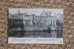 Carte Postale Ancienne Guerre De 1914 Château De Condé à La Ferté-sous-Jouarre Bombardé Par Les Anglais - La Ferte Sous Jouarre