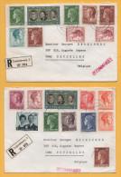 Luxemburg / 2 Einschreiben Von Luxemburg Nach Belgien - Brüssel Von 1970 ? - Mischfrankatur - Brieven En Documenten