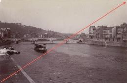 Photo Ancienne Liège La Meuse Bateau Juillet 1900 - Plaatsen