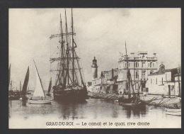 DF / 30 GARD / LE GRAU-DU-ROI / LE CANAL ET LE QUAI RIVE DROITE - Le Grau-du-Roi