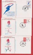 Lot De 11 Enveloppes  //  Premier Jour //  Jeux Olympiques  //  1991 - FDC