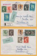Luxemburg / Einschreiben + Brief Von Luxemburg Nach Barcelona / Spanien Von 1968 - Mischfrankatur - U.a. Caritas - Brieven En Documenten