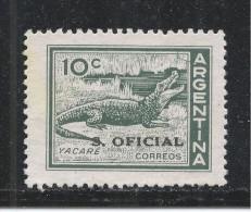 Argentina 1962 Scott #O113 (MNG) Cayman - Argentine