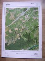 GRAND PHOTO VUE AERIENNE 66 Cm X 48 Cm De 1979  HERON COUTHUIN - Cartes Topographiques