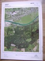 GRAND PHOTO VUE AERIENNE 66 Cm X 48 Cm De 1979  AMAY AMPSIN - Cartes Topographiques