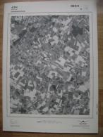 GRAND PHOTO VUE AERIENNE 66 Cm X 48 Cm De 1979  ATH ISIERES - Cartes Topographiques