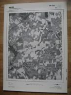 GRAND PHOTO VUE AERIENNE 66 Cm X 48 Cm De 1979  LENS MONTIGNIES LEZ LENS - Cartes Topographiques
