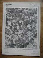 GRAND PHOTO VUE AERIENNE 66 Cm X 48 Cm De 1979  PERUWELZ BAUGNIES - Topographische Karten