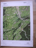 GRAND PHOTO VUE AERIENNE 66 Cm X 48 Cm De 1985 THEUX THEUX - Topographische Karten