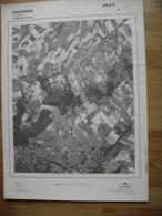 GRAND PHOTO VUE AERIENNE 66 Cm X 48 Cm De 1979 SOIGNIES CASTEAU - Cartes Topographiques