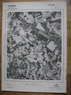 GRAND PHOTO VUE AERIENNE 66 Cm X 48 Cm De 1979  HANNUT GRAND HALLET - Cartes Topographiques