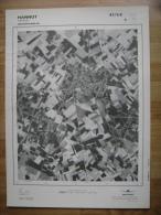 GRAND PHOTO VUE AERIENNE 66 Cm X 48 Cm De 1979  HANNUT HANNUT - Topographische Karten