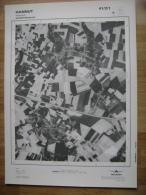 GRAND PHOTO VUE AERIENNE 66 Cm X 48 Cm De 1979  HANNUT HANNUT  41/2/1 - Cartes Topographiques