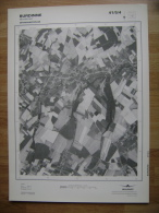 GRAND PHOTO VUE AERIENNE 66 Cm X 48 Cm De 1979  BURDINNE - Cartes Topographiques