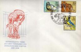2960  FDC  Berlin 1975 DDR Elefante,  Zoologischen - Elefantes