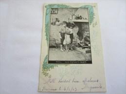 CPA NOEL AUX  ENFANTS SAGES  1903 - Humorous Cards